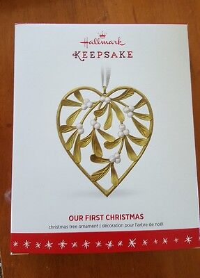 Hallmark Keepsake 2016 Our First Heart Dated Holiday Ornament