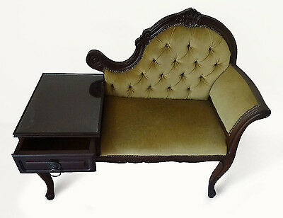 Rococco Louis 3 Style Chesterfield Telephone Chair / Table