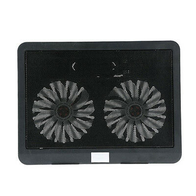 2 fans silence thin computer cooling frame USB Cooler Radiator Notebook Fan S7Y6