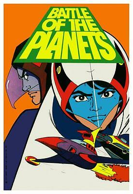 Battle of the Planets POSTER  **VERY LARGE** G-Force Cartoon Japanese Anime