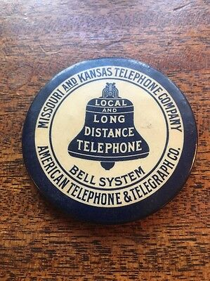 Missouri & Kansas Telephone Company Pocket Mirror Local & Long Distance Telephon