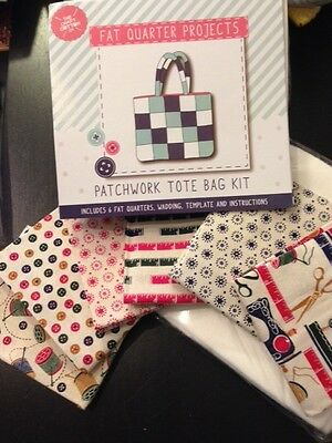 Quilt Kit Tote Bag inc 6 Fat Q's Sewing Notions, wadding template instructions