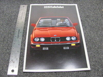 Vintage BMW 325i Cabriolet Dealer Sales Brochure 1987