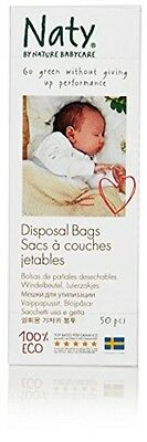 Naty by Nature Babycare Eco Disposal Nappy Bags - 3 x Packs of 50