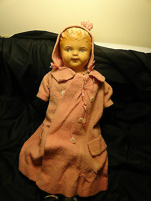 Vintage AM Co. Composition Doll Found In Attic Very Old