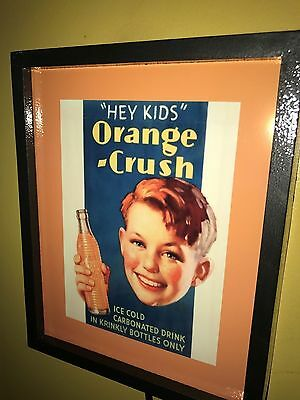 ^^^ Orange Crush Hey Kids Soda Fountain Diner Advertising Man Cave Lighted Sign