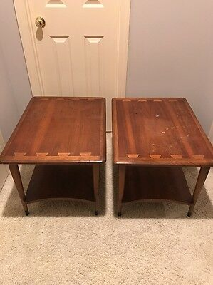 Vtg Lane Acclaim Pair of End Tables for Refurbishing Mid Century Modern May Ship