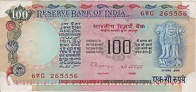 (N3-86) 1979 India 100 rupees bank note (L)