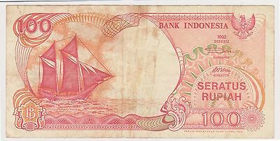 (N3-129) 1992 Indonesia 100 Rupiah bank note (AM)