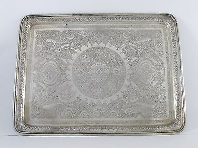ANTIQUE PERSIAN STERLING SILVER 84 TRAY 29 ToZ