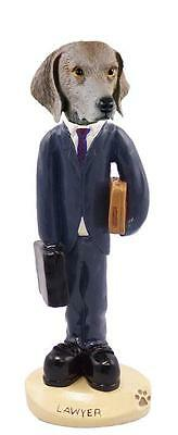 Weimaraner Lawyer Hand Painted Collectible Resin Figurine