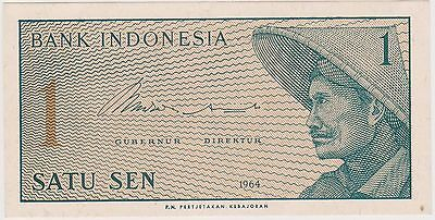 (N3-99) 1964 Indonesia 1 SEN bank note (H)