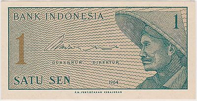 (N3-101) 1964 Indonesia 1 SEN bank note (J)
