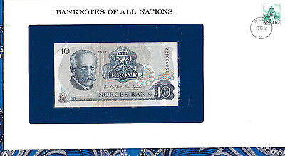 Banknotes of All Nations Norway 10 Kroner 1982 P 36c UNC Prefix BS