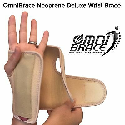 OmniBrace-Neoprene Deluxe Carpal Tunnel Arthritis Wrist Brace(Removable Splint)
