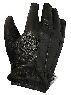 Large Size Men's Leather Gloves Police Search Style Model Rk-1012-L