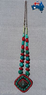 Berber Moroccan Handmade Traditional Women Long Chain Artisan Necklace Jewelry