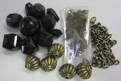 Bohemian & Black Bead Bracelet Kit With Instructions Beads & Findings TAR125