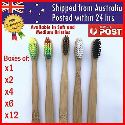 Bamboo Toothbrush Oral Care Environmental Teeth Brushes Eco Soft Medium Bristles