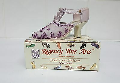 JUL17 Regency Fine Arts Steps In Time Collection Miniature Shoe Figurine Lilac