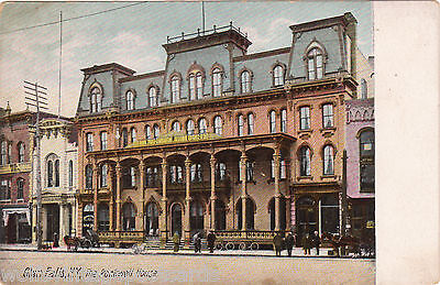 UDB New York Antique Postcard — Glen Falls NY, The Rockwell House street view