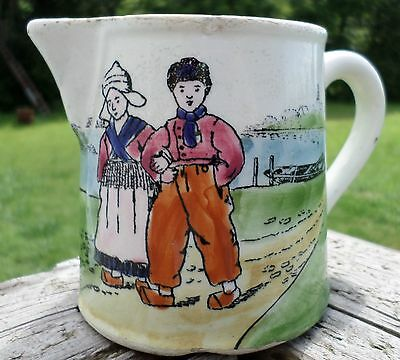 Antique GS Zell Creamer Made in Gemany Dutch Scene with Windmill From 1907-1928