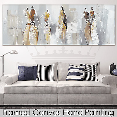 *Abstract Ladies* Hand Painted Oil Painting Stretched Canvas Ready to Hang Wall