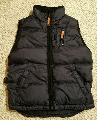 GAP KIDS Boys Navy Blue Down Filled Puffy Vest Size S 5-6