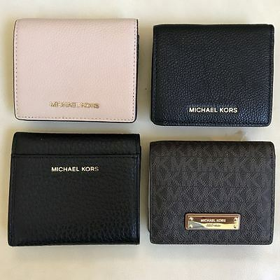 NEW Michael Kors Mercer Cooper Bifold Wallet Carryall Coin Case Various Colors