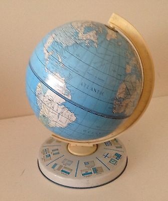 Lovely Vintage Mid Century Chad Valley Tin Plate Desk Top Globe.