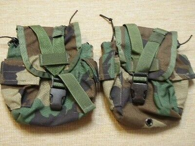 2 US Military Issue Woodland BDU Canteen Utility Pocket Pouch