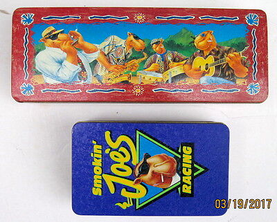 Joe Camel Set of Disposable Lighters and Matches Both in Original Tins