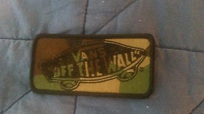 New Vans Shoes Off The Wall Classic Patch Green Camo Camouflage Iron On for Hat