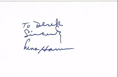Lena Horn - Singer Actress Civil rights activist  Genuine Signed  Card