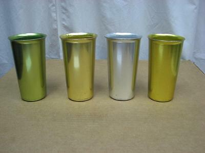 4 Vintage Heller Hostess Ware Colorama 5 inch Tumblers, made in USA