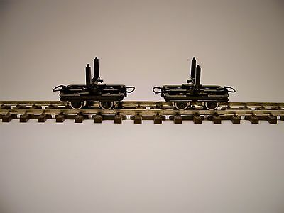 Roco 2 Unit Pivoted Bolster Truck Set (Log Cars) HOn30, HOe Scale  34602