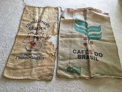 French Fabric Hessian Jute Burlap Feed Sack Grain Bag Brazilian Coffee Sack