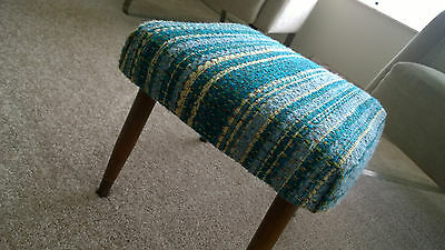 Vintage 1960's Mid Century Ottoman with Beautiful Original Fabric
