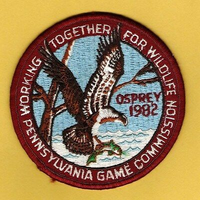 RARE Pa Penna Pennsylvania Game Commission WTFW ORIGINAL1982 Osprey patch