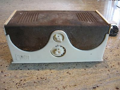 Vintage Rare Sterling Deluxe tube radio for restoration
