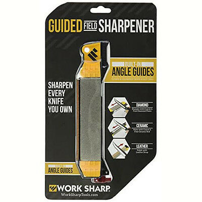 New Sealed: Work Sharp Guided Field Sharpener Built-in Angle Guides ~FSH 704024~