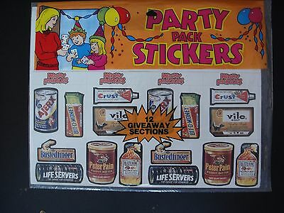 1983 Wacky Packages Part Pack Sticker Sheet Sealed Tougher Variety