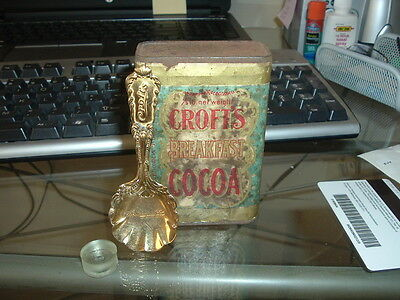 Early 1900s Croft's Cocoa SEALED can Philadelphia PA with Serving Ad Spoon