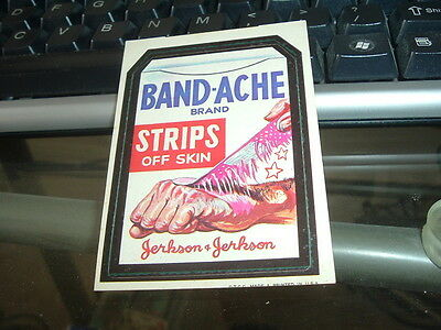 1973 Topps Wacky Packages Bandache Tandache Tan Back 1st Series Sticker RARE!