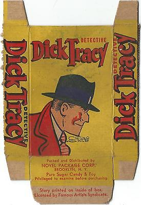 1930s Novel Candy and Toy R52 Dick Tracy Card with Coupon Back Panel RARE!