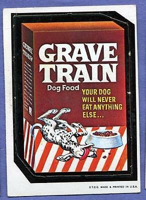 1967 Topps Wacky Packages Die Cut #6 Grave Train RARE Variation!