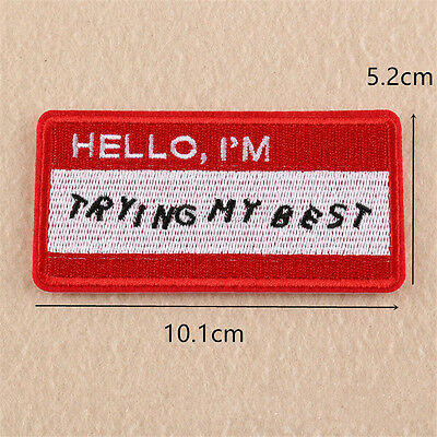 Embroidered Sew on Iron On Patches Bag Badge Fabric Clothes Applique Transfer Be