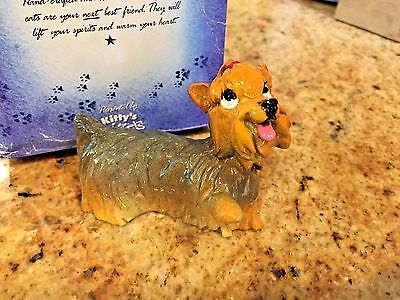 Kitty's Kennel Collectible YORKIE puppy dog Figurine YORKSHIRE TERRIER New