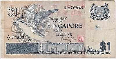 (N3-218) 1976 Singapore $1 bank note (space filler) (D)