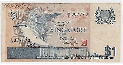 (N3-219) 1976 Singapore $1 bank note (space filler) (E)
